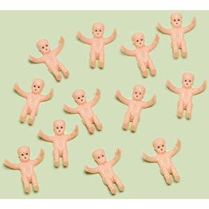 creepy plastic babies party favors