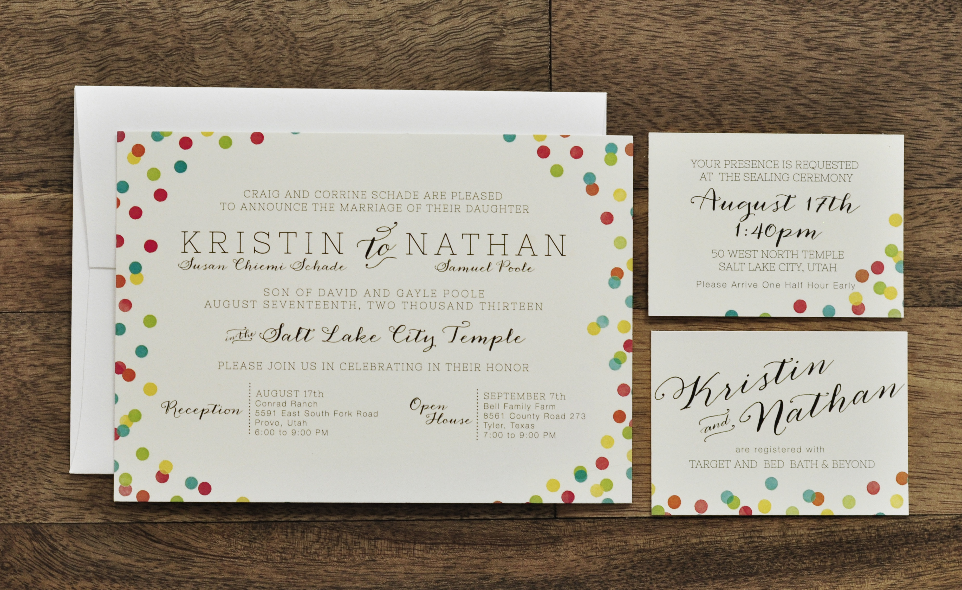 Confetti Wedding Invitation | right & west
