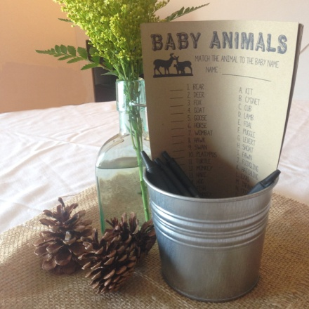 camping baby shower centerpiece