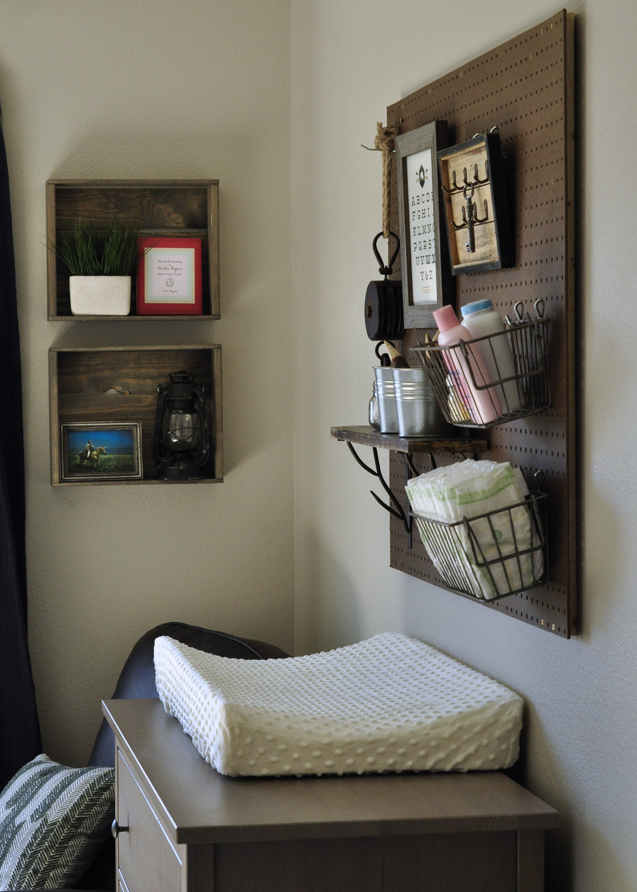 Rustic/Modern Baby Nursery | right & west
