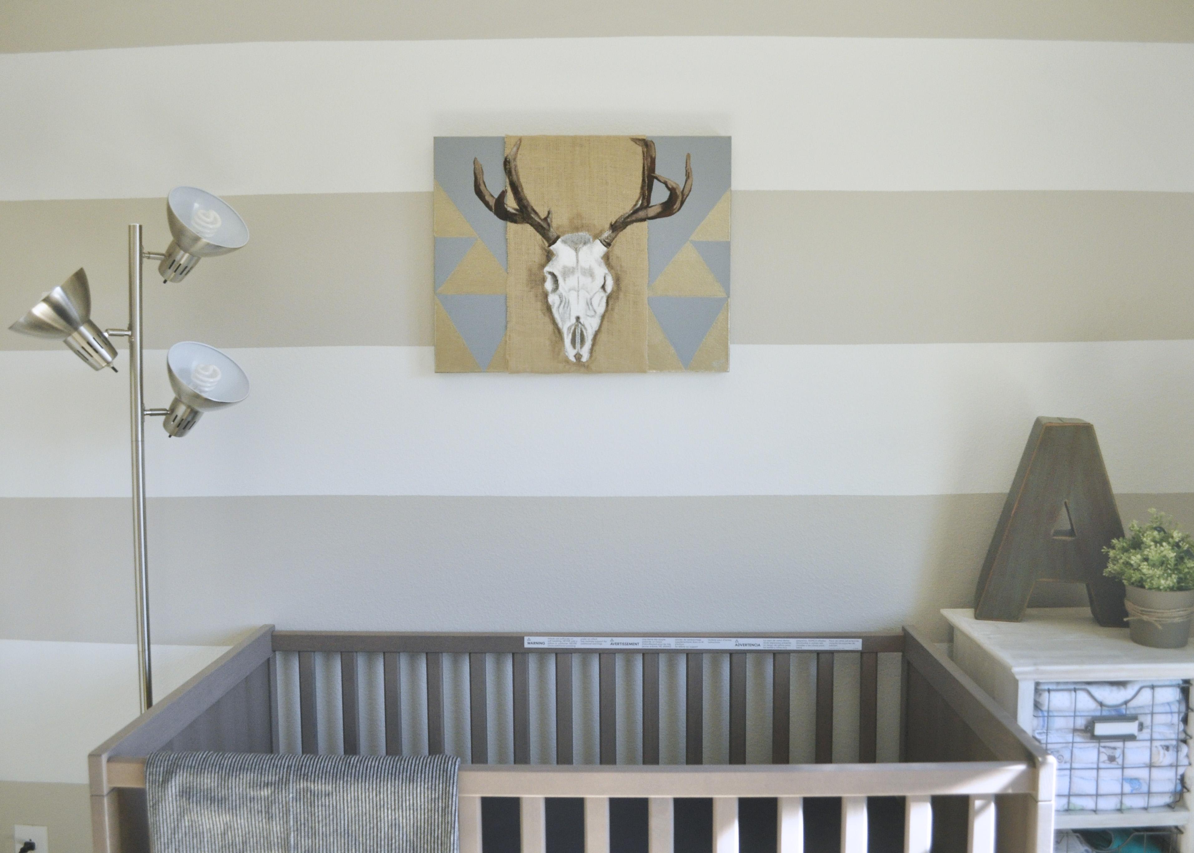 rustic modern baby nursery right west