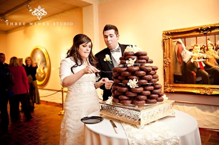 doughnut wedding cake donut